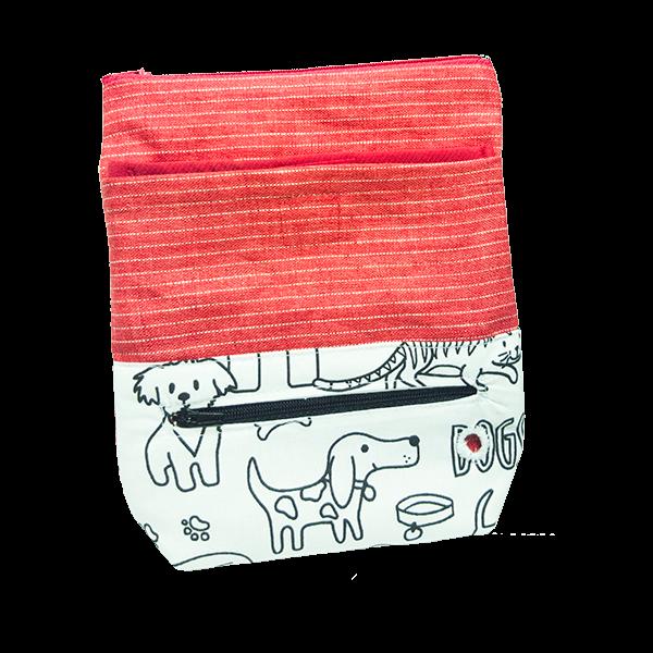 Pamlskovník červený s motivem pejsků