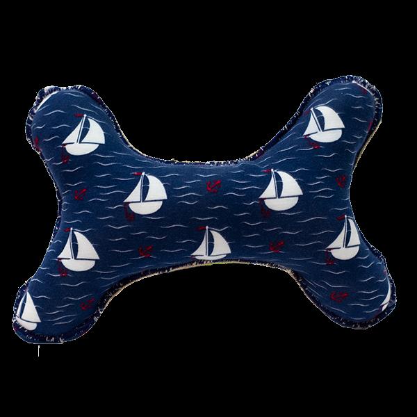 Kost z režné látky: vzor námořnická modrá