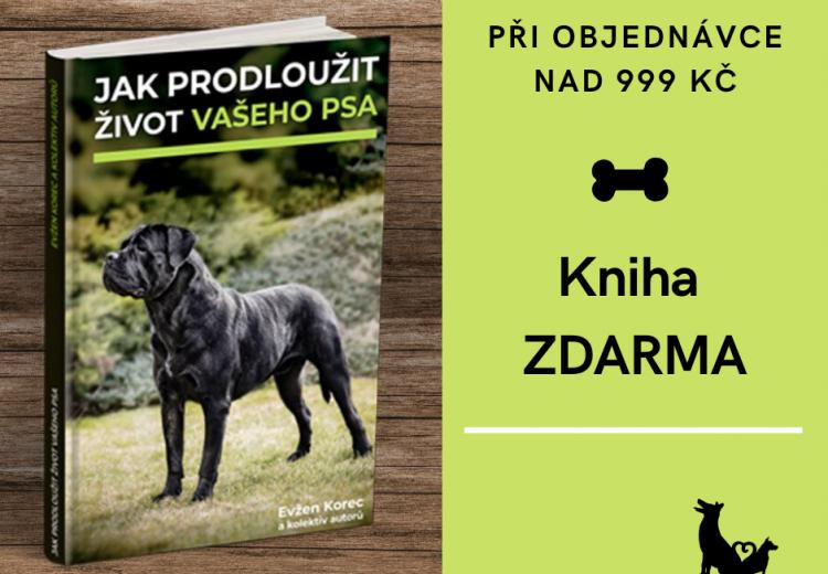 Knížka Jak prodloužit život vašeho psa při objednávkách nad 999 Kč.